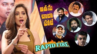 Rapid Fire - Raai Laxmi on Pawan Kalyan, MS Dhoni, Balakrishna, Ajith, Chiranjeevi, Prabhas & others - IGTELUGU