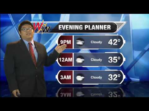 11/22 Saturday Evening Forecast
