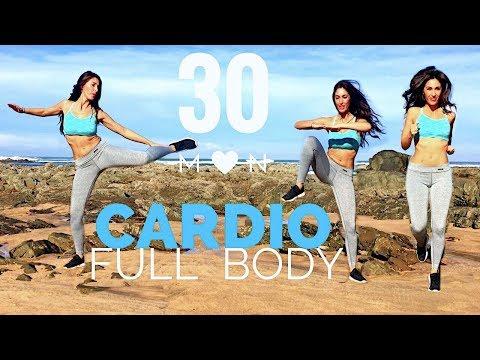 30 Min Fat Burning Cardio Workout   Waist, Hips, Abs, Legs... Full Body