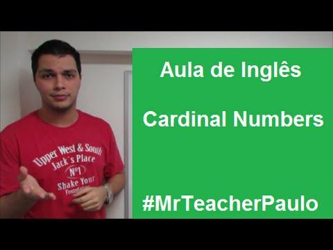 Aula de Inglês #28: Cardinal numbers - Números cardinais