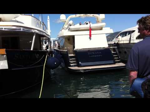Jurata - jacht należący Zbigniewa Niemczyckiego w porcie Saint Tropez