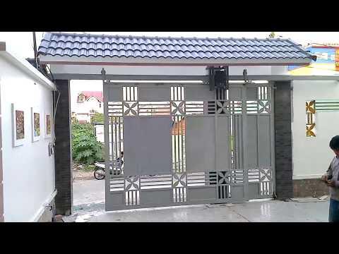 Cửa Cổng Lùa Treo Gắn Motor Chạy Tự Động-cua cong dep- cua cong cao cap-cua cong hien dai