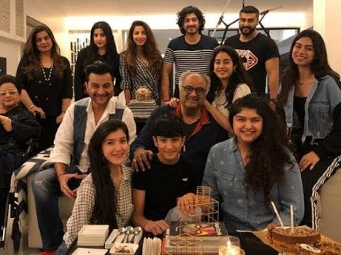 Janhvi, Khushi, Anshula And Arjun Celebrate Dad Boney Kapoor's Birthday Celebrations