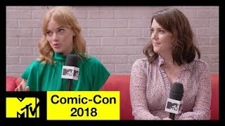 Melanie Lynskey and Jane Levy on 'Castle Rock', Stephen King, & More | Comic-Con 2018 | MTV - MTV