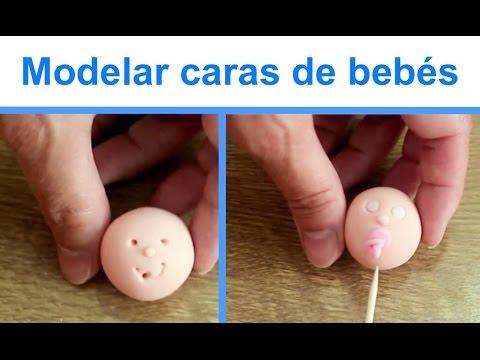Figuras para tartas:  caras de bebé. Baby faces in fondant