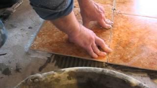 укладка плитки на тёплый пол