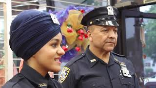Sikh Woman to Wear Turban as NY Auxiliary Police Officer - VOAVIDEO