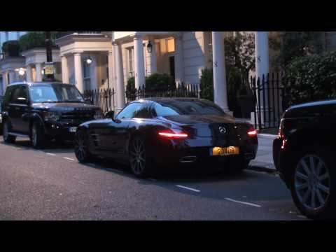 Mercedes SLS AMG Walkaround, Startup, Acceleration, Driving, + 722S Roadster & Phantom