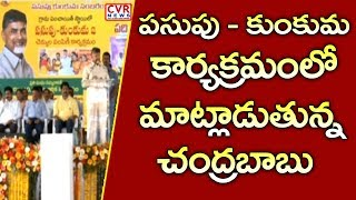 AP CM Chandrababu Naidu Full Speech In Pasupu Kunkuma At Krishna District l CVR NEWS - CVRNEWSOFFICIAL
