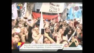 Acto de condecoración a la ex presidenta de la  Argentina
