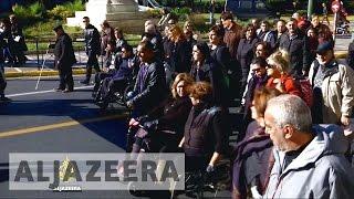 Disabled in Greece fear austerity measures - ALJAZEERAENGLISH