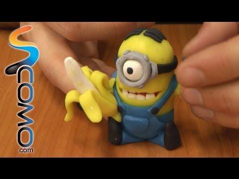 Manualidades de plastilina (Minion Banana) - Minion banana with plasticine (3/3)