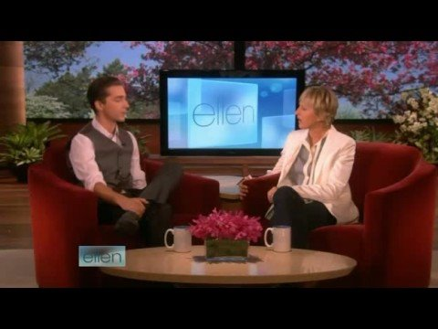Shia LaBeouf Interview on Ellen Part 1 09 26 08