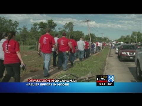 Red Cross on relief effort in Moore