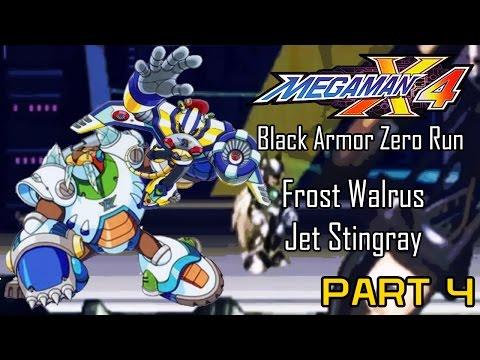Mega Man X4 - Black Armor Zero Part 04: Frost Walrus, Jet Stingray | Too Much Gaming