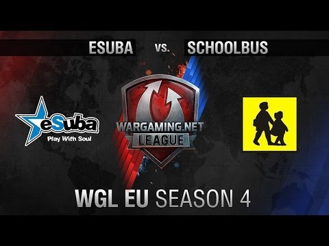 eSuba vs. SchoolBus - Matchday 8 - WGL EU Season 4 - World of Tanks