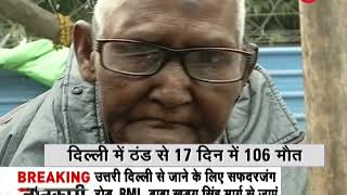 Deshhit: Cold in Delhi worsens; 106 killed in 17 days - ZEENEWS