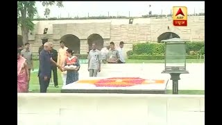 Ram Nath Kovind reaches Rajghat before swearing-in ceremony - ABPNEWSTV