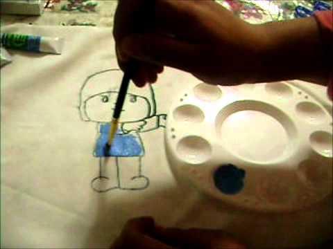 Curso de pintura textil  pintado en tela a mano