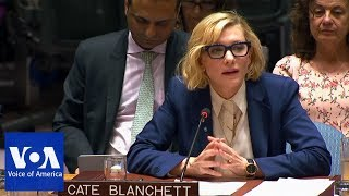 Cate Blanchett Urges UN to Act on Rohingya Muslim Refugees - VOAVIDEO