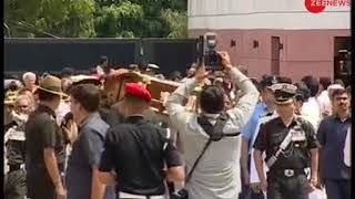 Mortal remains of Atal Bihari Vajpayee reach BJP HQ - ZEENEWS
