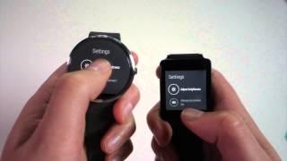 شاهد مقطع فيديو يقارن بين LG G Watch و Moto 360