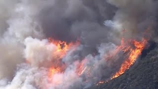 Strong Winds Fuel Destructive Southern California Wildfire | NBC Nightly News - NBCNEWS