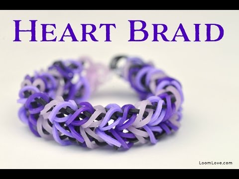 How to Make a Rainbow Loom Heart Braid Bracelet