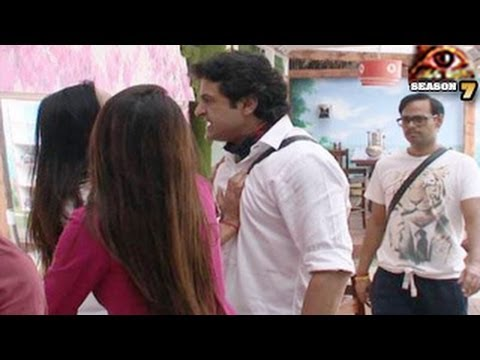 Bigg Boss 7 Sofia PUSHES & HITS Armaan in Bigg Boss 7 4th December 2013 Day 80 FULL EPISODE