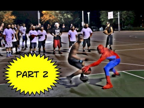 Spiderman Plays Basketball And Beats Everyone