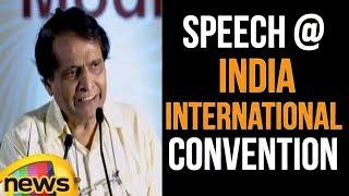 Railway Minister Suresh Prabhu Speech at Foundation Stone of India International Convention - MANGONEWS