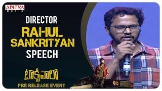 Director Rahul Sankrityan Speech @ Taxiwaala Pre-Release EVENT Live || Vijay Deverakonda - ADITYAMUSIC