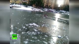 Man who can't swim saves drowning child from frozen lake - RUSSIATODAY