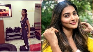Actress Pooja Hegde Gym Workout Video | Tollywood Updates - RAJSHRITELUGU