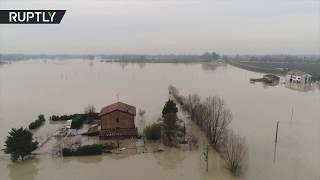 AERIAL: Heavy floods hit northwest Italy, hundreds evacuated - RUSSIATODAY