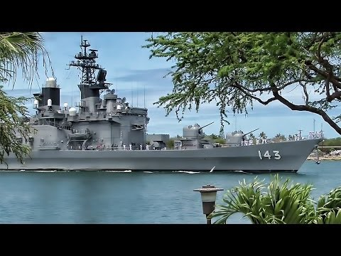 Japanese Navy Destroyer Arrives At Pearl Harbor - Hawaii