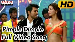 Yevadu Movie || Pimple Dimple Full Video Song ||  Ram Charan, Shruti Hassan - ADITYAMUSIC