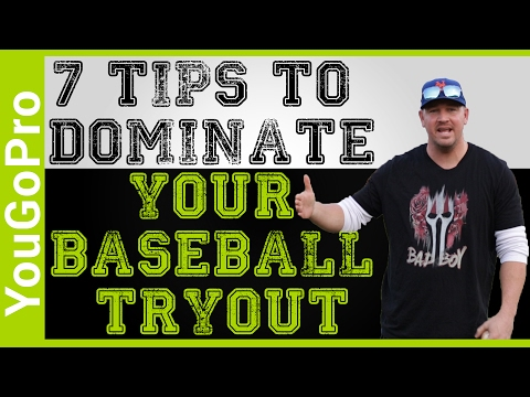 7 tips to DOMINATE your BASEBALL TRYOUT!
