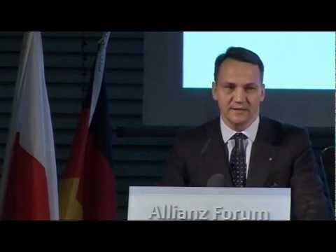 Przemówienie Radosława Sikorskiego w Berlinie w 2011 r.