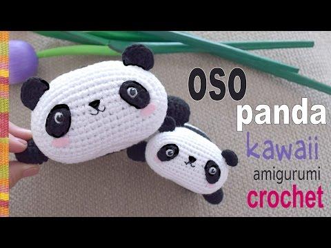 Oso panda kawaii tejido a crochet (amigurumi) / Tejiendo Perú