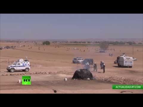 EN VIVO: Choques entre kurdos y la Policía turca en la frontera turco-siria