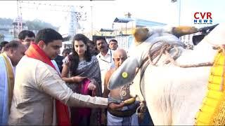 ఫంచెకట్టులో అదిరిన చంద్రబాబు మనవడు | Minister Nara Lokesh & His Family Offered Prayers at Tirumala - CVRNEWSOFFICIAL
