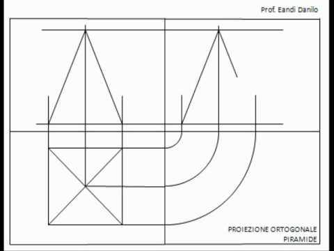 Proiezione ortogonale piramide