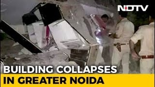 Under-Construction Building Falls On Another Near Delhi, Many Trapped - NDTV