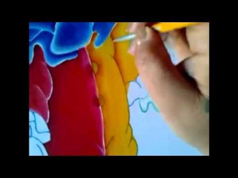 Pintura en tela ropa del payaso con cony # 3