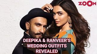 Deepika Padukone & Ranveer Singh Wedding Outfits REVEALED - ZOOMDEKHO