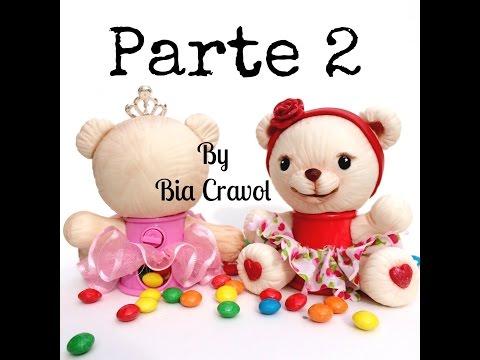 DIY: Ursinha Baleiro parte 2- biscuit - porcelana fria- By Bia Cravol