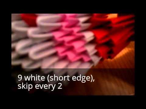 Схема сборки Деда мороза из оригами. Часть 2