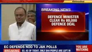 Defence minister clear Rs 80,000 defence deal - NEWSXLIVE