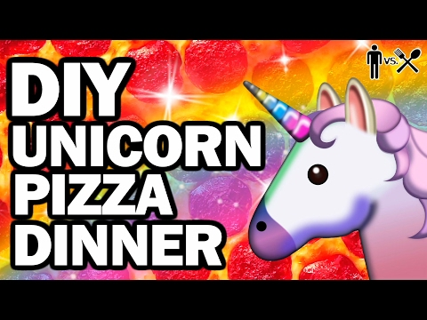 DIY UNICORN PIZZA - Man Vs Din #7
